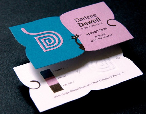 creative minimal business card design inspiration Darlene Cards
