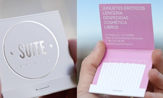 creative minimal business card design inspiration Suite. Erotic shop