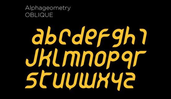 Alphageomtery free fonts 2015