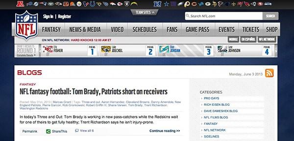 NFL-Blog