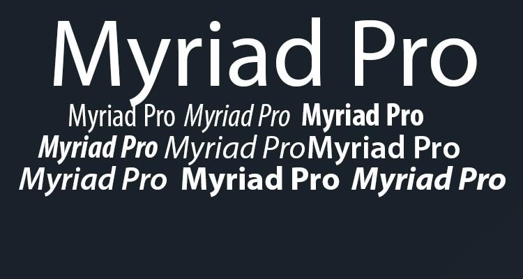 myriad-pro professional font