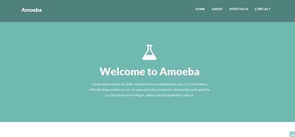 free responive web template html css Amoeba