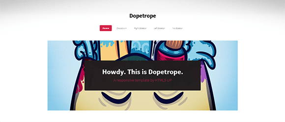 free responive web template html css Dopetrope