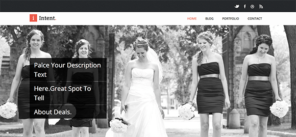 free responive web template html css Intent