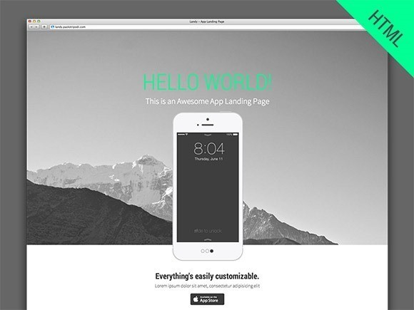 free responive web template html css Landy