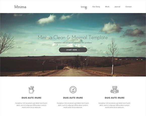 free responive web template html css Minima