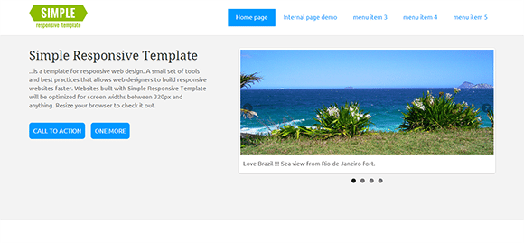 free responive web template html css Simple
