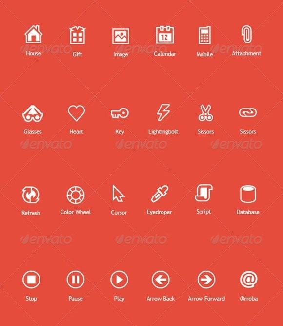 Flat Icons VOL.1