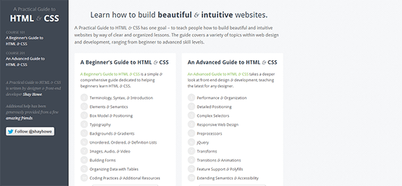 Guide to HTML and CSS