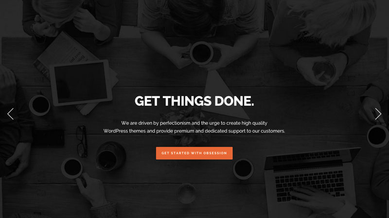 Obsession is a flexible and highly customisable multi & one page WordPress theme.