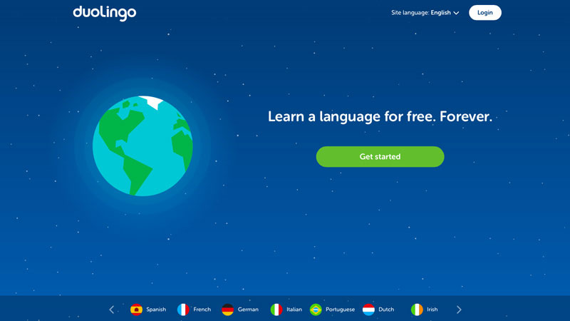 Duolingo is a perfect example of a clear and prominent call to action (CTA) button.