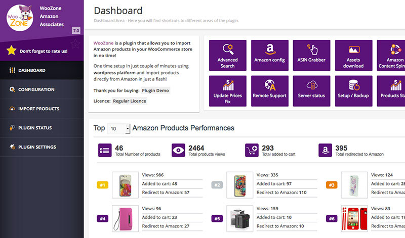 Keep track of Amazon products you promote and analyze your conversion rates.
