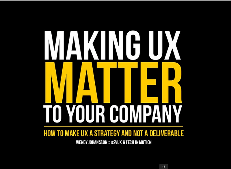 making ux matter