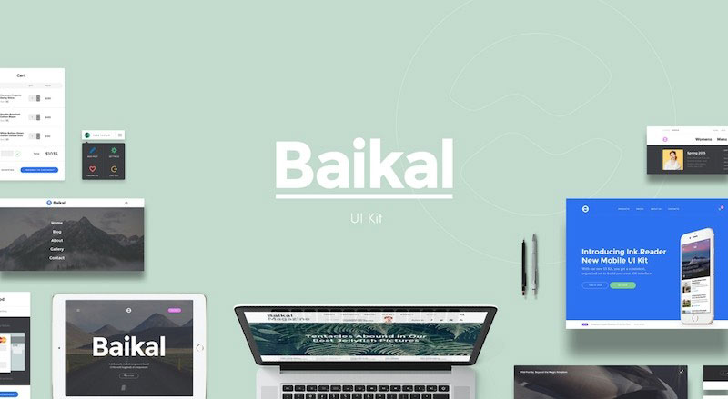 Baikal - Component Based Prototyping UI Kit