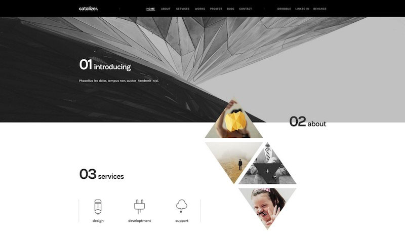 Catalizer Creative Template PSD