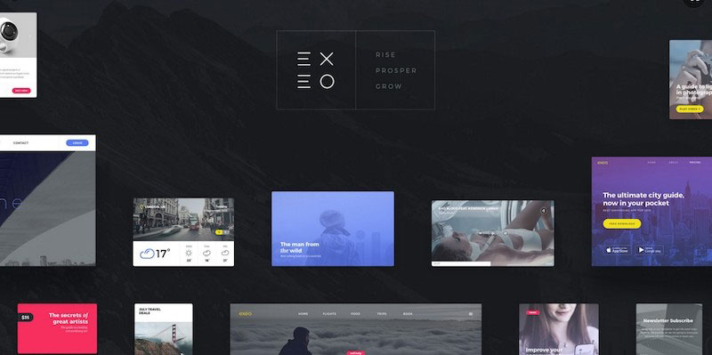 Exeo - Fully Customizable User Interface Kit