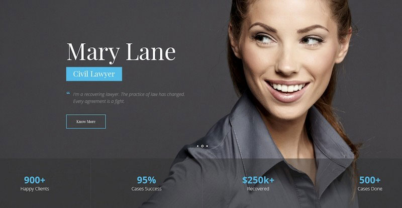 Law Practice - Lawyer & Attorney PSD Template