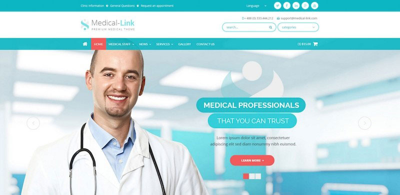 Medical-Link PSD Theme