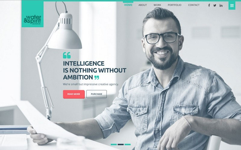 Water&Spirit Multipurpose PSD Website Template