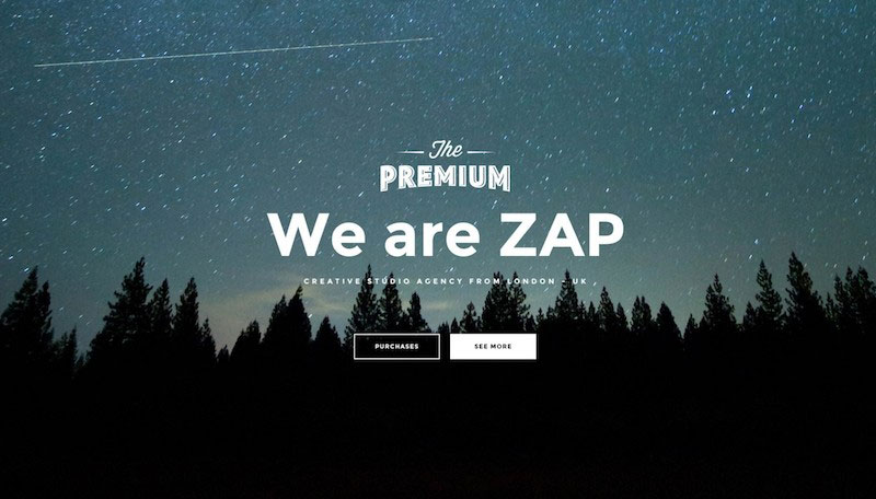 ZAP Creative PSD Template