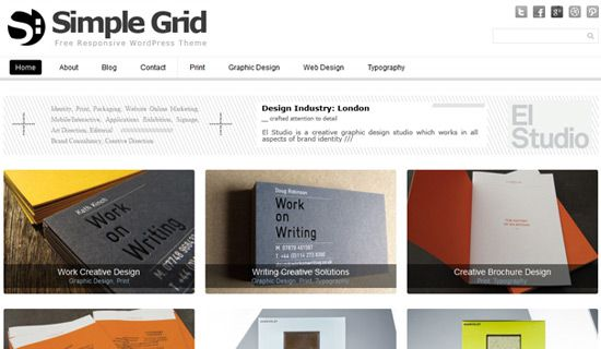Simplegrid free wordpress theme