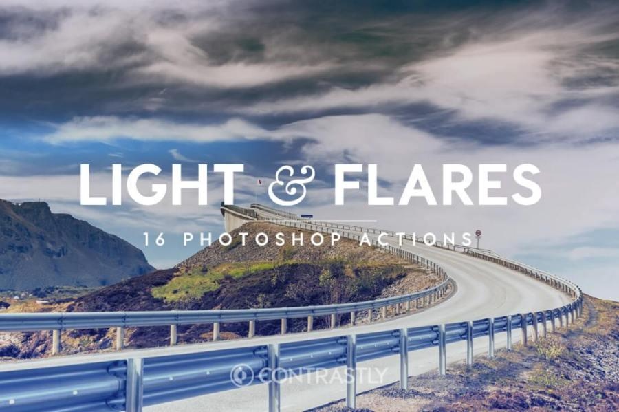 Light Flares Photoshop Action Bundle Contrastly