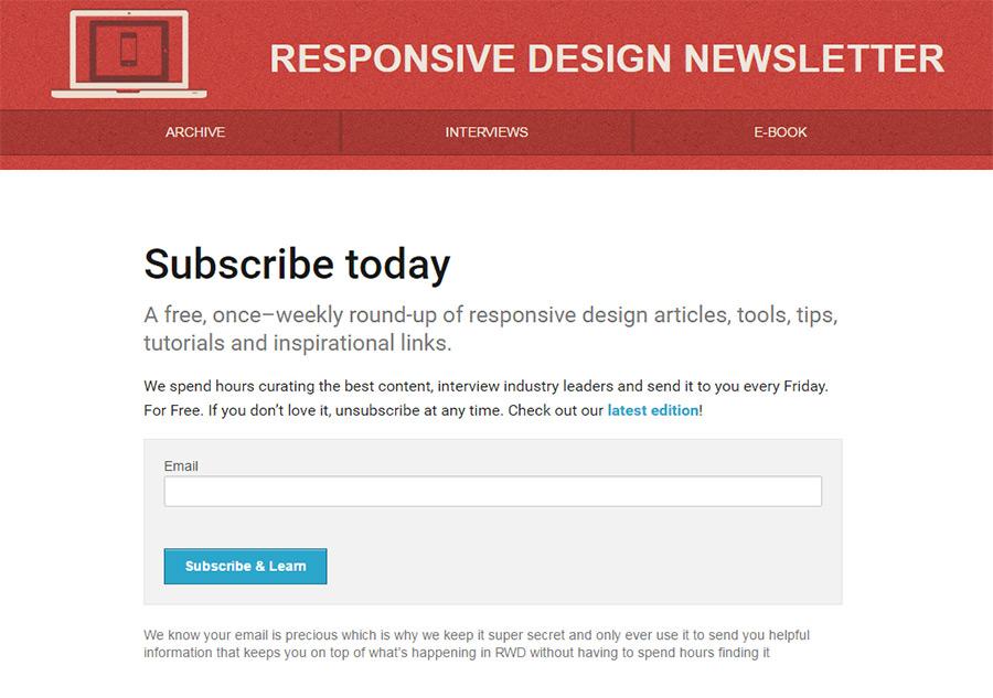responsive newsletter