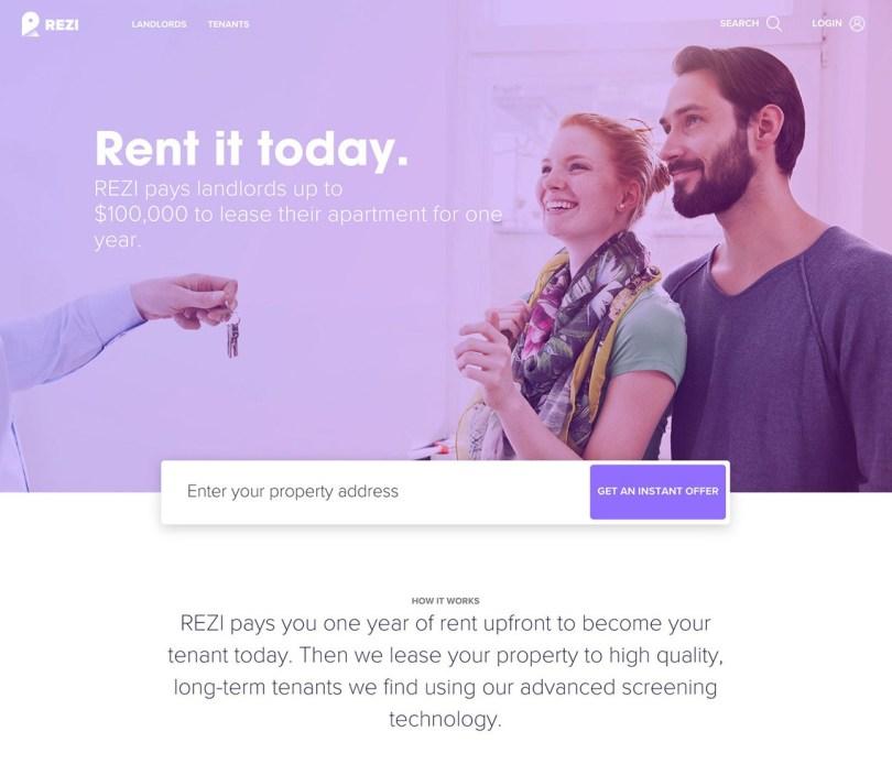 hero design web example landing page Rezi