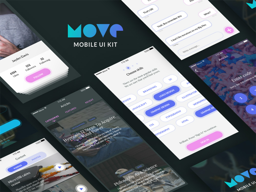 move ui kit sketch