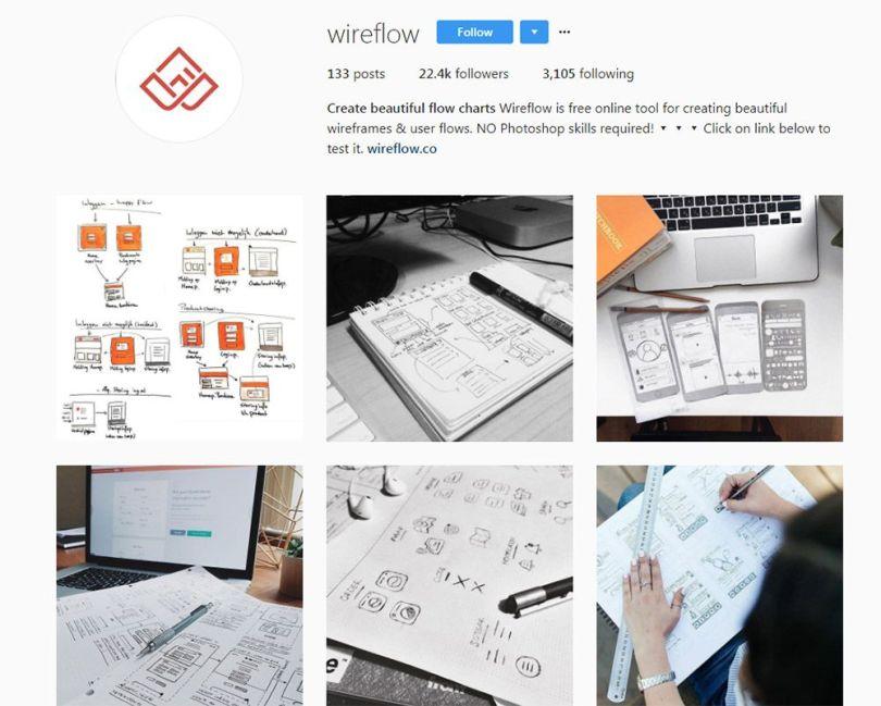 wireflow instagram page