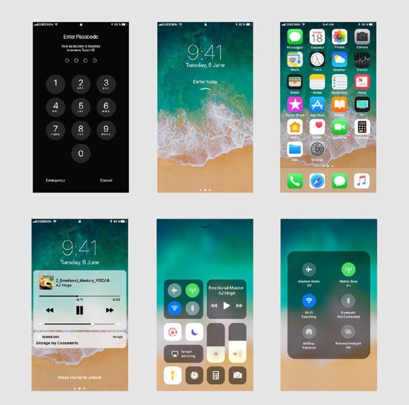 iphonex ios 11 xd gui