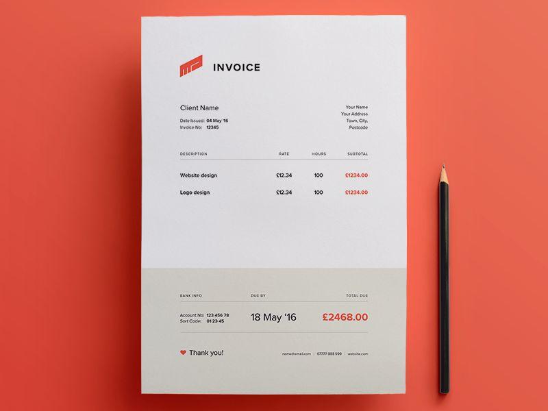 Beautiful Free Invoice Templates for Creatives
