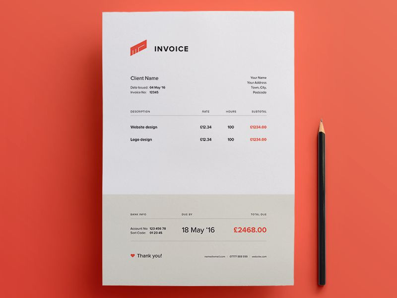10 Free Invoice Templates for Creatives   1stWebDesigner Beautiful Free Invoice Templates for Creatives