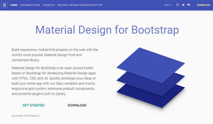 Bootstrap Material framework