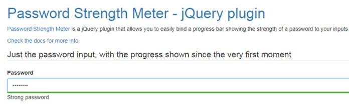 Password Strength Meter plugin