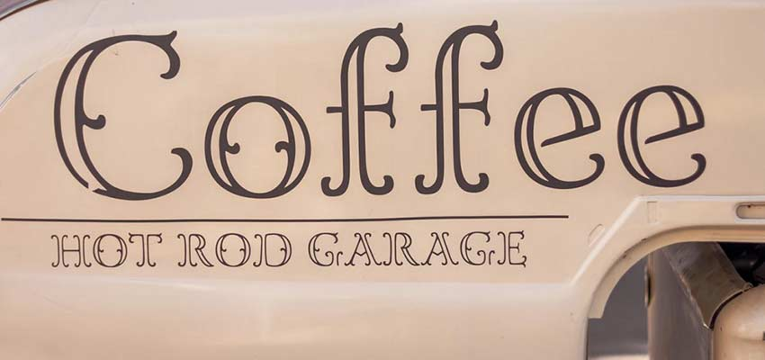 Decorative font example