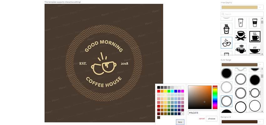 A customized coffee shop logo.