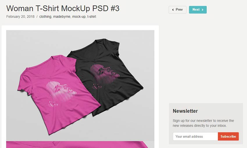 Woman T-Shirt Mockup PSD