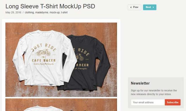 Long Sleeve T-Shirt Mockup PSD