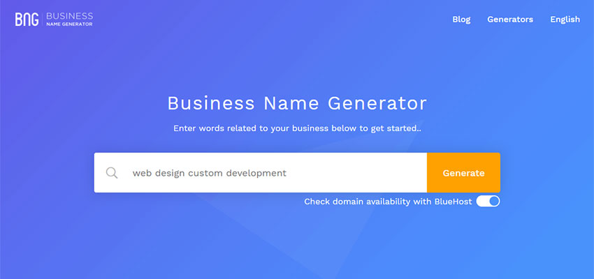 Business Name Generator Search
