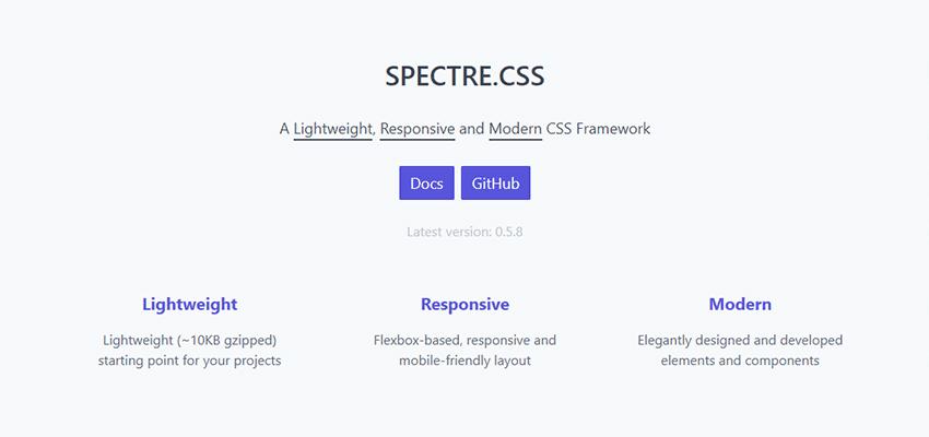 Spectre.css