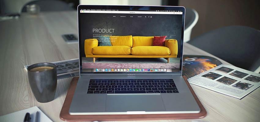 An eCommerce website on a laptop computer screen.