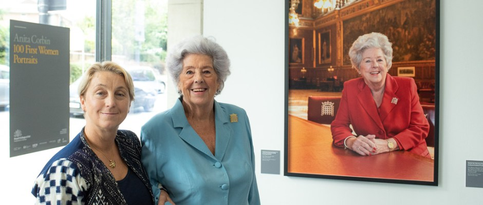 Betty Boothroyd and Anita Corbin