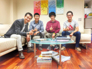(From left) Peidong Yang, Letian Dou, Andrew Wong and Yi Yu successfully followed up on research first proposed by Yang in 1994.