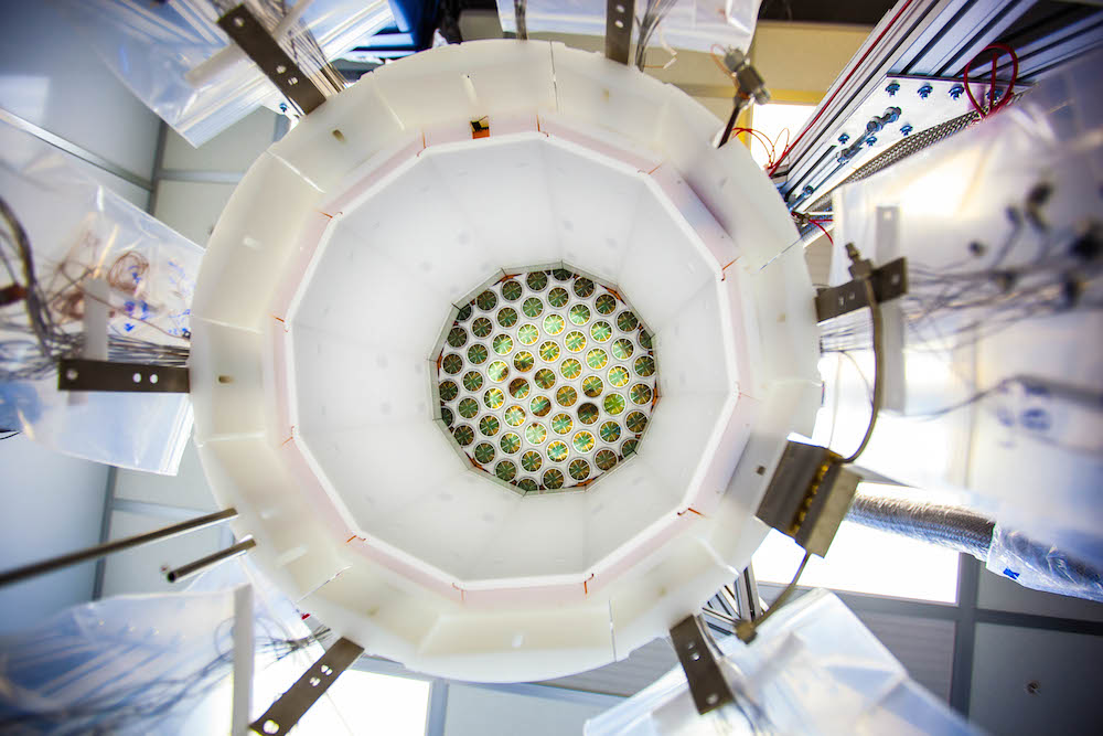 A view inside the LUX detector. (Photo by Matthew Kapust/Sanford Underground Research Facility)