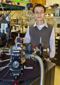 Nanoscience expert Peidong Yang holds appointments with Berkeley Lab, UC Berkeley and the Kavli Energy NanoSciences Institute at Berkeley. (Photo by Roy Kaltschmidt)