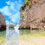 Stunning reflective afternoon on Bisevo Island, Croatia