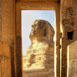 Cairo, Egypt - Doorway to the Sphinx