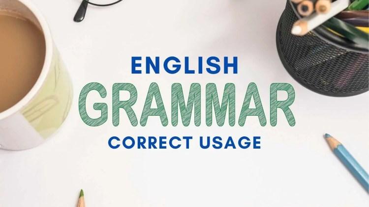 english grammar and correct usage test