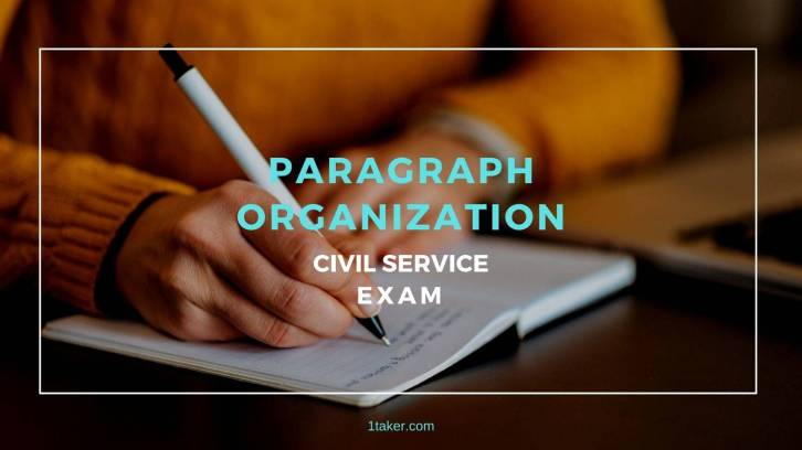paragraph organization civil service exam philippines